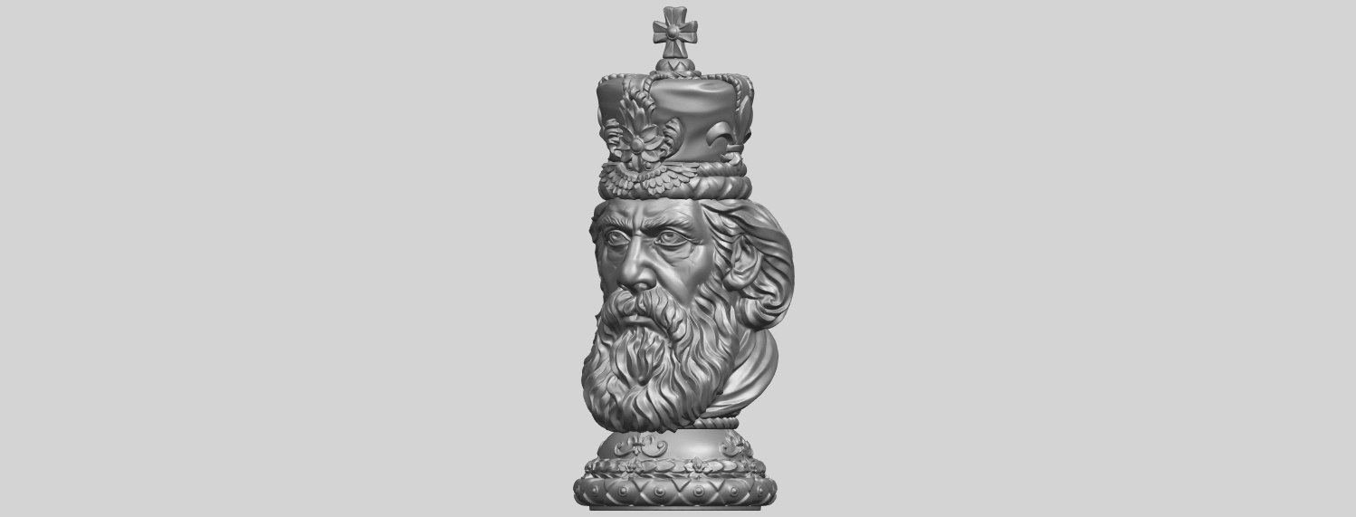 06_TDA0254_Chess-The_KingA02.png Download free STL file Chess-The King • 3D printer model, GeorgesNikkei