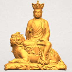 Free 3d printer model Avalokitesvara Bodhisattva - Sit on Lion, GeorgesNikkei