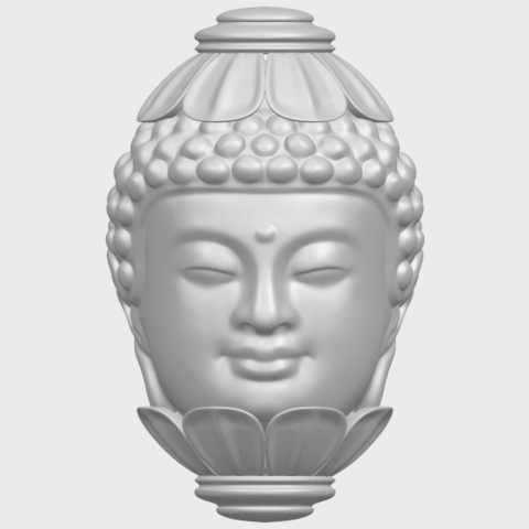11_Buddha_Head_Sculpture_80mmA01.png Download free STL file Buddha - Head Sculpture • 3D printing model, GeorgesNikkei