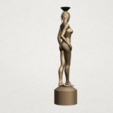 Naked girl-vase-B06.png Download free STL file Naked Girl with Vase on Top (i) • 3D print template, GeorgesNikkei