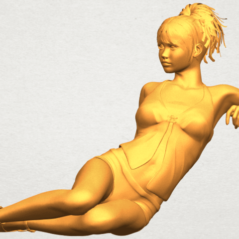 A02.png Download free STL file Naked Girl F08 • Object to 3D print, GeorgesNikkei