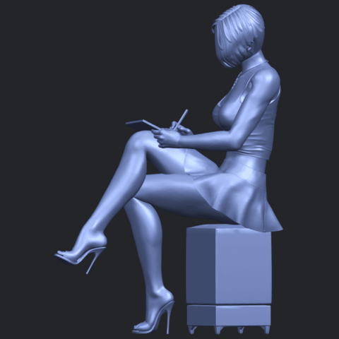 19_TDA0471_Beautiful_Girl_05_B03.png Download free STL file Beautiful Girl 05 • 3D printing template, GeorgesNikkei