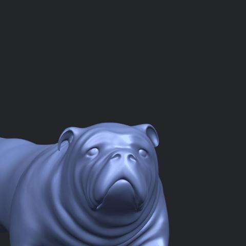 14_TDA0520_Bull_Dog_01A10.png Télécharger fichier STL gratuit Chien de taureau 01 • Plan pour impression 3D, GeorgesNikkei