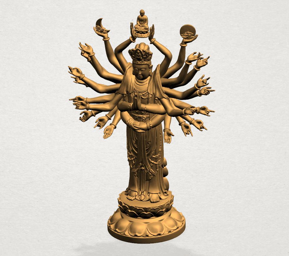 Avalokitesvara Bodhisattva (multi hand) 80mm -A02.png Download free STL file Avalokitesvara Bodhisattva (multi hand) (i) • 3D print object, GeorgesNikkei