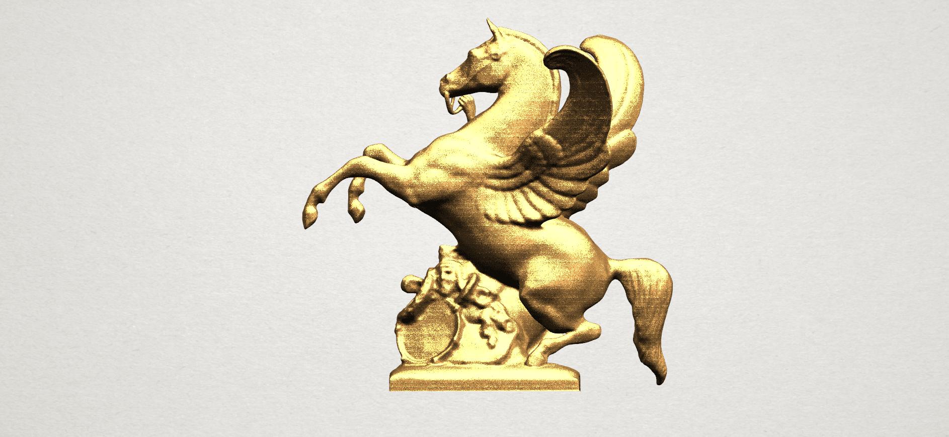 Horse (v) A01.png Télécharger fichier STL gratuit Cheval 05 • Plan pour impression 3D, GeorgesNikkei