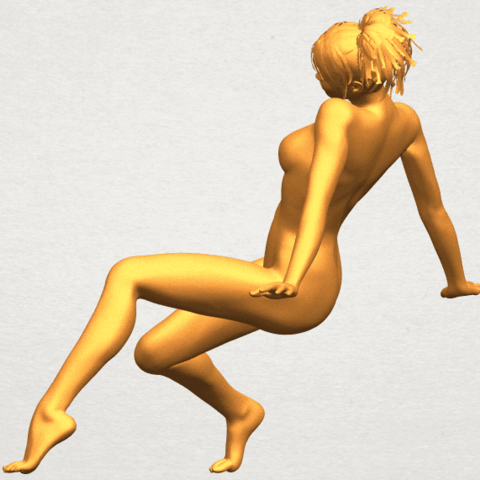 A04.png Download free STL file Naked Girl G01 • 3D printable template, GeorgesNikkei