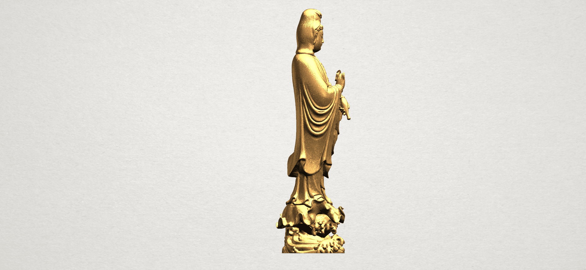 Avalokitesvara Buddha - Standing (v) A08.png Download free STL file Avalokitesvara Buddha - Standing 05 • 3D printer template, GeorgesNikkei