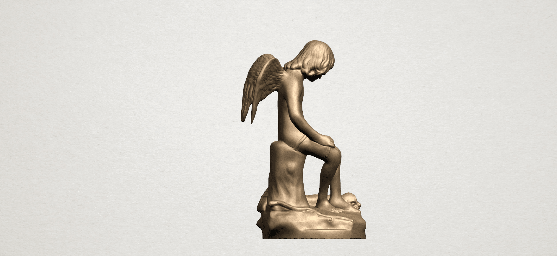 Angel and Dog A05.png Download free STL file Angel and Dog • 3D print model, GeorgesNikkei