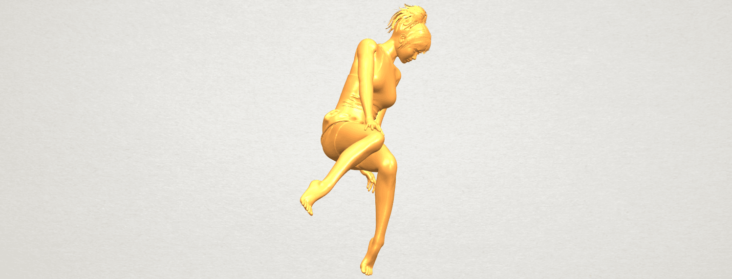 A09.png Download free STL file Naked Girl E05 • 3D print object, GeorgesNikkei