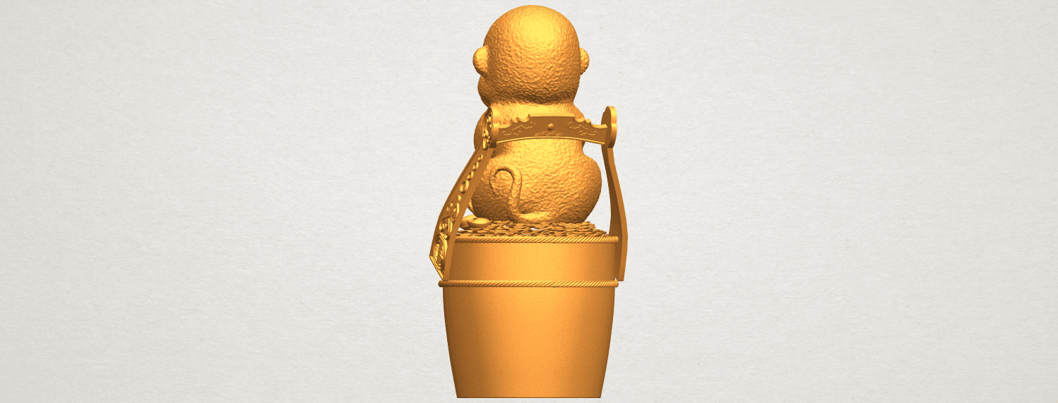 A06.png Download free STL file Monkey A05 • 3D print design, GeorgesNikkei