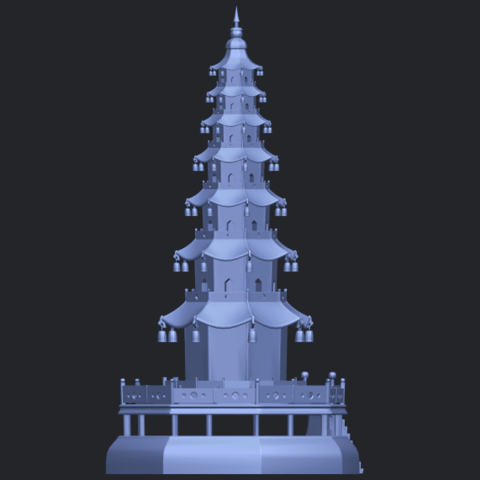 03_TDA0623_Chiness_pagodaB08.png Download free STL file Chiness pagoda • Design to 3D print, GeorgesNikkei