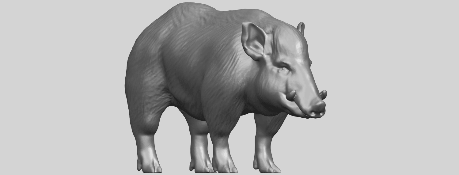13_TDA0320_Pig_ii_A08.png Download free STL file Pig 02 • 3D printable object, GeorgesNikkei