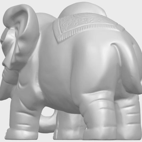 Elephant_03_-122mmA06.png Télécharger fichier STL gratuit Éléphant 03 • Modèle imprimable en 3D, GeorgesNikkei