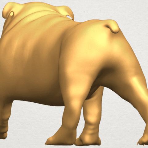 TDA0520 Bull Dog 01 A04.png Télécharger fichier STL gratuit Chien de taureau 01 • Plan pour impression 3D, GeorgesNikkei