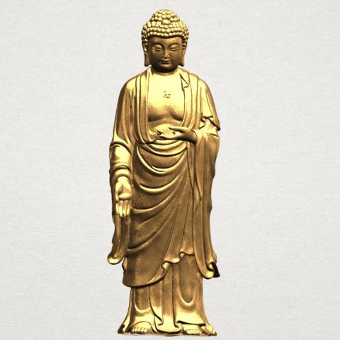 Gautama Buddha (stand)-80mm-B01.png Télécharger fichier STL gratuit Gautama Bouddha - Debout 01 • Plan pour impression 3D, GeorgesNikkei
