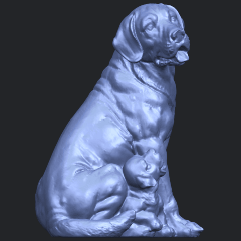 02_TDA0526_Dog_and_PuppyB02.png Download free STL file Dog and Puppy 01 • Model to 3D print, GeorgesNikkei