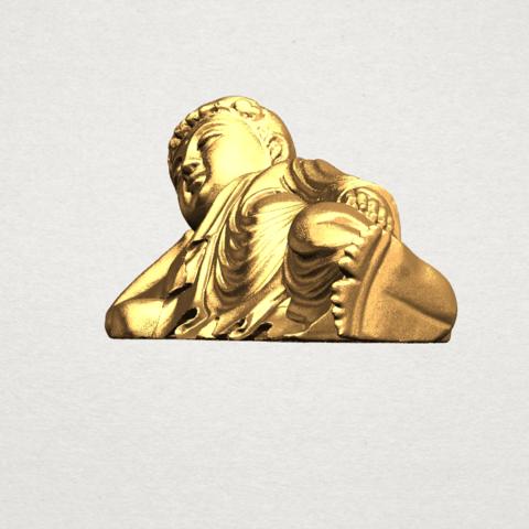 Sleeping Buddha (i) A03.png Download free STL file Sleeping Buddha 01 • 3D printable design, GeorgesNikkei