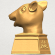 TDA0508 Chinese Horoscope of Rat 02 A03.png Download free STL file Chinese Horoscope of Rat 02 • 3D printable model, GeorgesNikkei