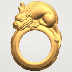 Free 3D printer designs Pi Xiu Ring, GeorgesNikkei