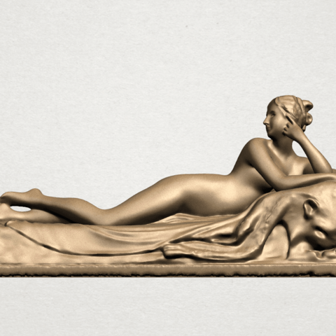 Lying on Bed (i) A01.png Download free STL file Naked Girl - Lying on Bed 01 • 3D printable object, GeorgesNikkei