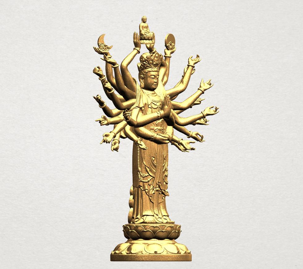 Avalokitesvara Bodhisattva (multi hand) 80mm -B09.png Download free STL file Avalokitesvara Bodhisattva (multi hand) (i) • 3D print object, GeorgesNikkei