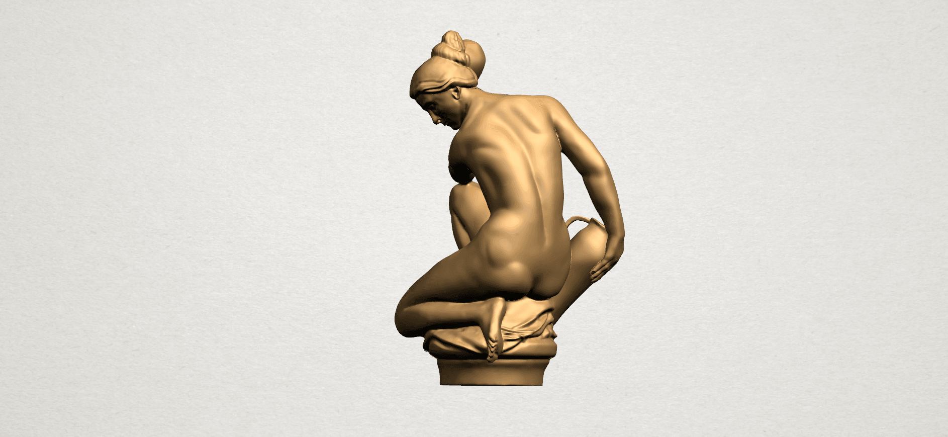 Naked Girl - With Pot - A05.png Télécharger fichier STL gratuit Fille Nue - Avec Pot • Modèle à imprimer en 3D, GeorgesNikkei