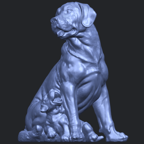 02_TDA0526_Dog_and_PuppyB04.png Download free STL file Dog and Puppy 01 • Model to 3D print, GeorgesNikkei