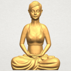 Free 3d printer files Beautiful Girl - Yoga, GeorgesNikkei