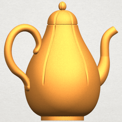 TDA0323 Tea Pot (ii) A08.png Download free STL file Tea Pot 02 • 3D printer template, GeorgesNikkei