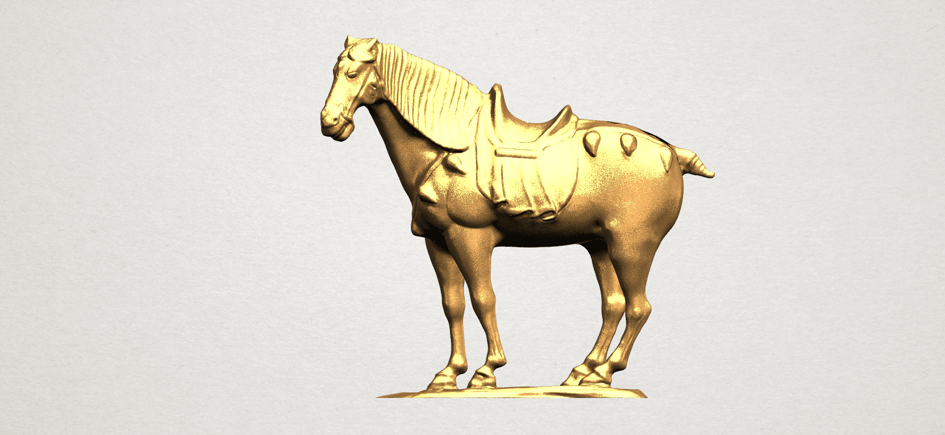 Horse (iv) A01.png Download free STL file Horse 04 • 3D print design, GeorgesNikkei