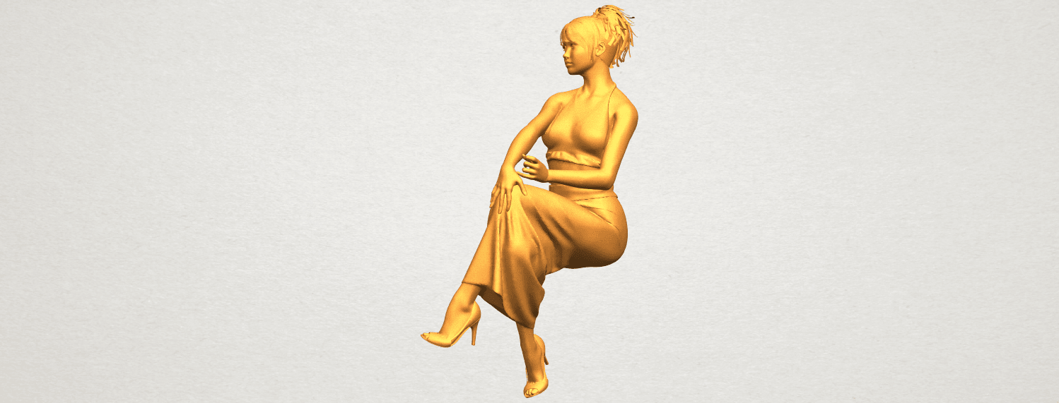 A06.png Download free STL file Naked Girl H09 • 3D printing model, GeorgesNikkei