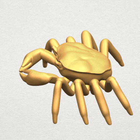 TDA0612 Crab A07.png Télécharger fichier STL gratuit Crabe • Objet pour imprimante 3D, GeorgesNikkei