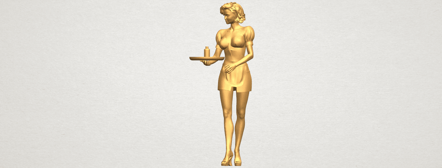 TDA0475 Beautiful Girl 09 Waitress A02.png Download free STL file Beautiful Girl 09 Waitress • 3D printable object, GeorgesNikkei