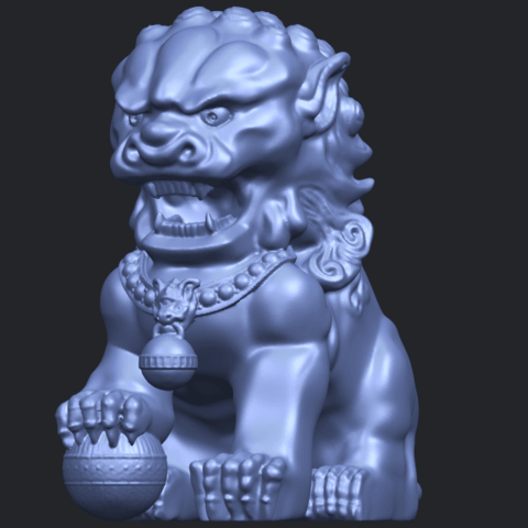 04_TDA0500_Chinese_LionB02.png Download free STL file Chinese Lion • 3D printing object, GeorgesNikkei