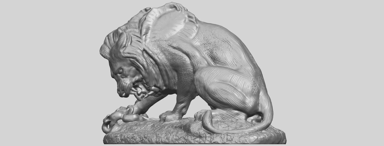 16_Lion_(iii)_with_snake_60mm-A02.png Télécharger fichier STL gratuit Lion 03 - avec serpent • Modèle imprimable en 3D, GeorgesNikkei