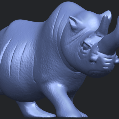 TDA0310_Rhinoceros_iiB08.png Download free STL file Rhinoceros 02 • 3D printing model, GeorgesNikkei