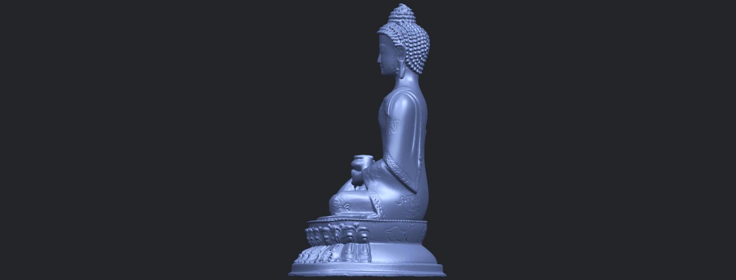 15_TDA0173_Thai_Buddha_(iii)_88mmB04.png Download free STL file Thai Buddha 03 • 3D printing object, GeorgesNikkei