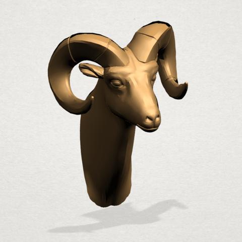 Goat - B02.png Télécharger fichier STL gratuit Chèvre 01 • Design pour impression 3D, GeorgesNikkei