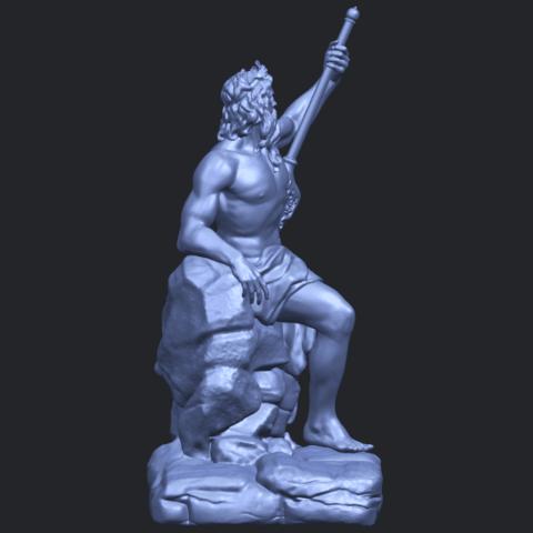14_Naked_Warrior_88mm_(repaired)B09.png Télécharger fichier STL gratuit Guerrier nu • Plan pour impression 3D, GeorgesNikkei