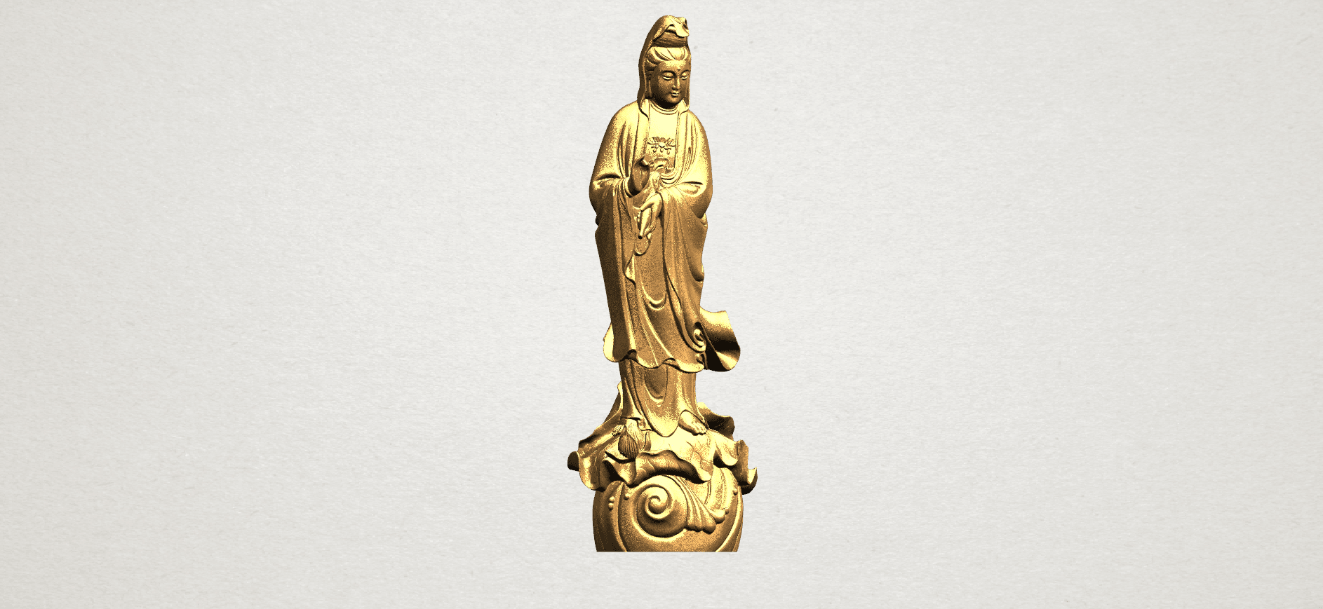 Avalokitesvara Buddha - Standing (i) A08.png Download free STL file Avalokitesvara Bodhisattva - Standing 01 • 3D printable design, GeorgesNikkei