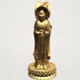 Free 3d printer designs Avalokitesvara Buddha (with Lotus Leave) 01, GeorgesNikkei