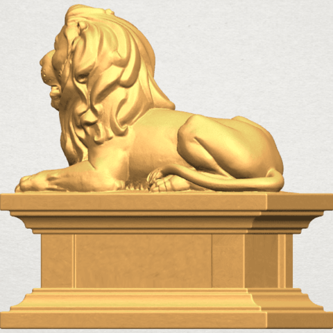TDA0499 Lion 04 A03.png Download free STL file Lion 04 • Template to 3D print, GeorgesNikkei