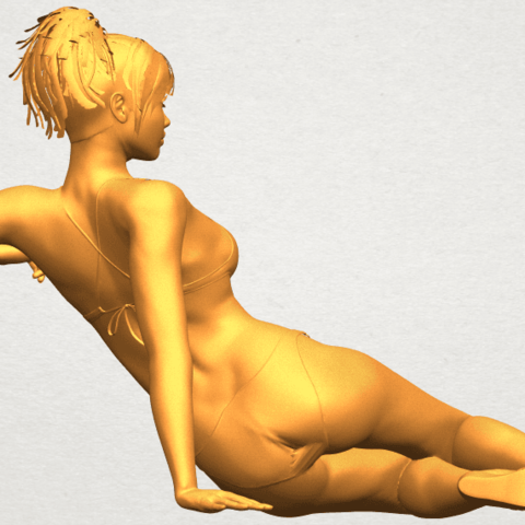 A08.png Download free STL file Naked Girl F02 • 3D printable template, GeorgesNikkei