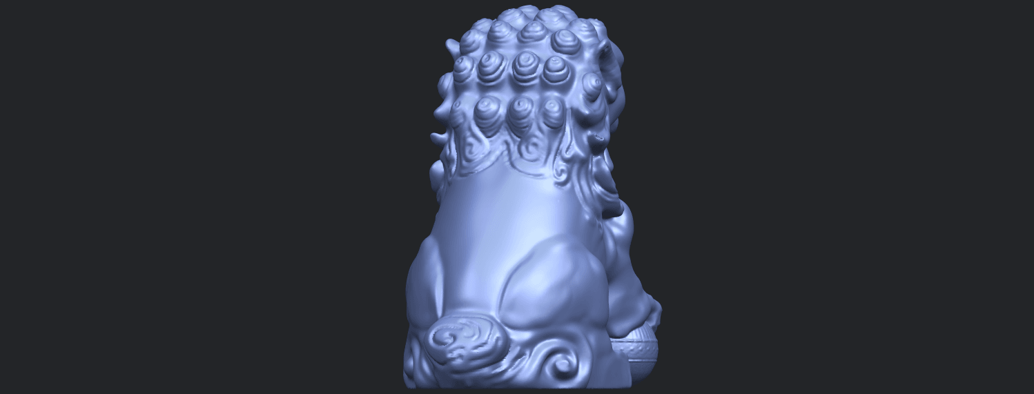 04_TDA0500_Chinese_LionB07.png Download free STL file Chinese Lion • 3D printing object, GeorgesNikkei