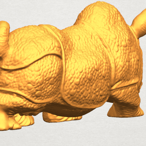 TDA0312 Rhinoceros (iv) Female A04.png Download free STL file  Rhinoceros 05 Female • 3D print object, GeorgesNikkei