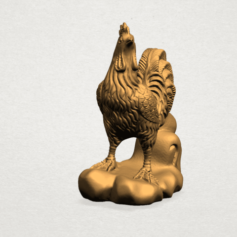 TDA0051j Chinese Horoscope10-A05.png Download free STL file Chinese Horoscope 10 Chicken - TOP MODEL • 3D printable design, GeorgesNikkei