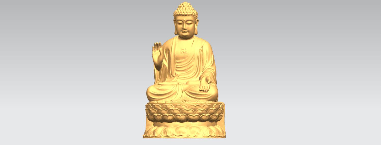 TDA0459 Gautama Buddha (iii) B01.png Download free STL file Gautama Buddha 03 • 3D printer template, GeorgesNikkei