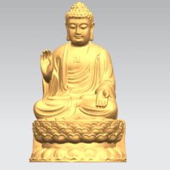 Free STL files Gautama Buddha 03, GeorgesNikkei