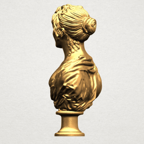 Bust of a girl 01 A03.png Download free STL file Bust of a girl 01 • Object to 3D print, GeorgesNikkei
