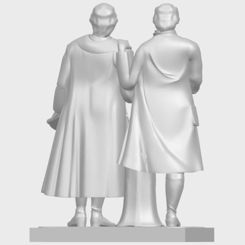 15_Goethe_schiller_80mmA07.png Télécharger fichier STL gratuit Goethe Schiller • Modèle imprimable en 3D, GeorgesNikkei